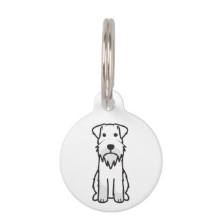 Miniature Schnauzer Dog Cartoon Pet Tag