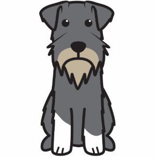 Miniature Schnauzer Dog Cartoon Standing Photo Sculpture