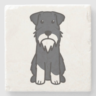 Miniature Schnauzer Dog Cartoon Stone Coaster