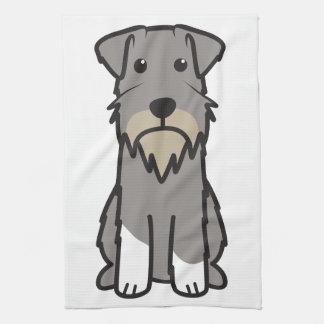 Miniature Schnauzer Dog Cartoon Tea Towel