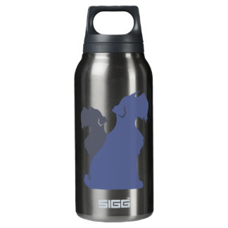 Miniature Schnauzer Dog Silhouette Insulated Water Bottle