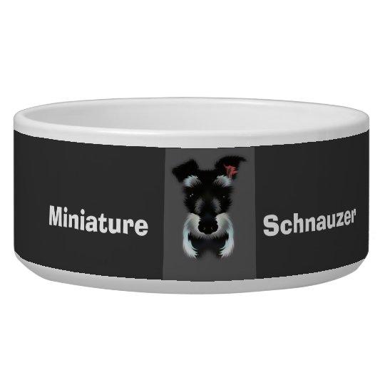 Miniature schnauzer doggie bowl
