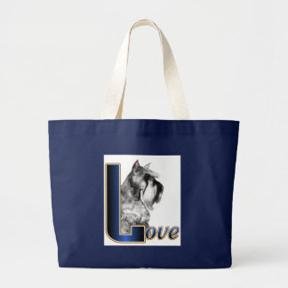 Miniature Schnauzer Gifts Large Tote Bag