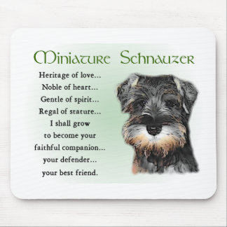 Miniature Schnauzer Gifts Mouse Mat