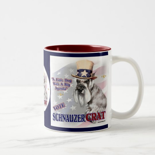 Miniature Schnauzer Gifts Political Humour Two-Tone Coffee Mug