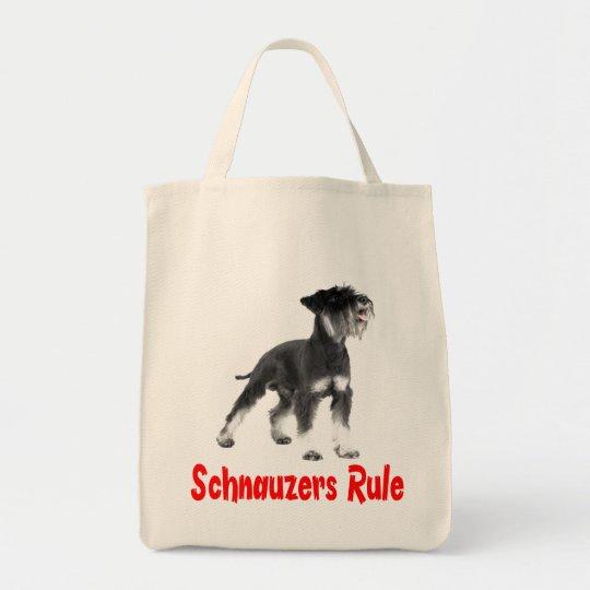 Miniature Schnauzer Grey Puppy Dog Red Love Tote