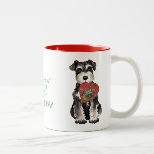 MIniature Schnauzer Heart Mom Coffee Mugs
