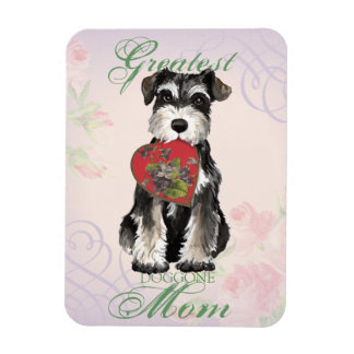 MIniature Schnauzer Heart Mom Vinyl Magnet
