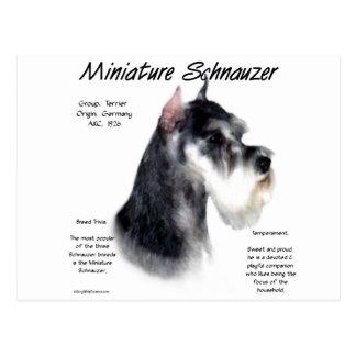 Miniature Schnauzer History Design Postcards
