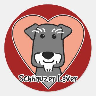 Miniature Schnauzer Lover Classic Round Sticker