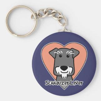 Miniature Schnauzer Lover Key Ring