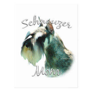 Miniature Schnauzer Mom 2 Postcard