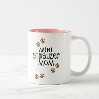 Miniature Schnauzer Mom Two-Tone Coffee Mug