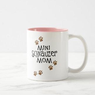 Miniature Schnauzer Mom Two-Tone Coffee Mug