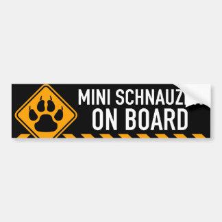 Miniature Schnauzer On Board Bumper Sticker