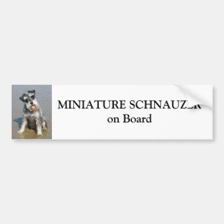 Miniature Schnauzer on board custom Bumper Sticker