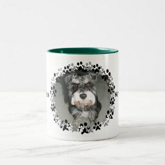 Miniature Schnauzer Photo Two-Tone Coffee Mug