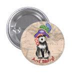 Miniature Schnauzer Pirate Button