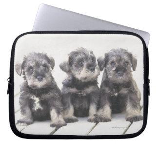 Miniature Schnauzer Puppies Laptop Sleeve