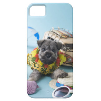 Miniature Schnauzer Puppy and Summer Vacation iPhone 5 Case