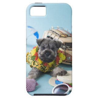 Miniature Schnauzer Puppy and Summer Vacation Tough iPhone 5 Case