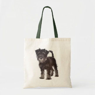 Miniature Schnauzer Puppy Dog Canvas Tote Bag