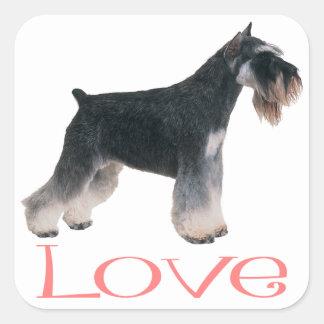 Miniature Schnauzer Puppy Dog Pink Love Sticker