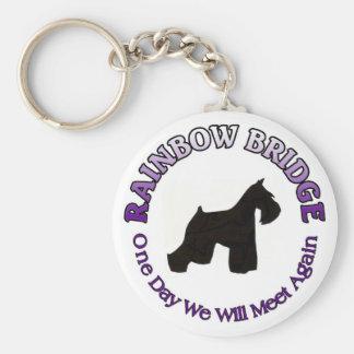MINIATURE SCHNAUZER RAINBOW BRIDGE SYMPATHY DOG KEY RING