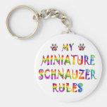 Miniature Schnauzer Rules Fun Keychains