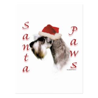 Miniature Schnauzer Santa Paws Postcard