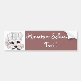 Miniature Schnauzer Taxi Bumper Sticker