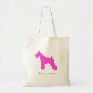 Miniature Schnauzer Tote Bag (pink silhouette)