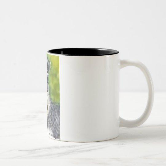 miniature schnauzer Two-Tone coffee mug