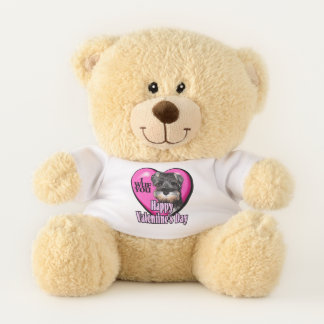 Miniature Schnauzer Valentines Day Teddy Bear