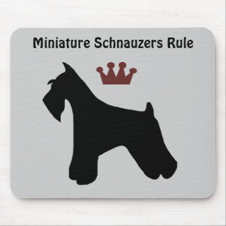 Miniature Schnauzers Rule Mousepad