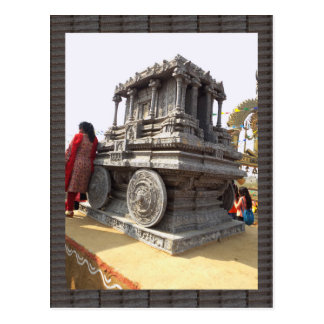 Miniature statues stone craft temples of india postcard
