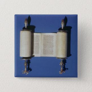 Miniature Torah Scroll, 1765 15 Cm Square Badge