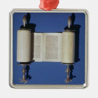Miniature Torah Scroll, 1765 Christmas Ornament