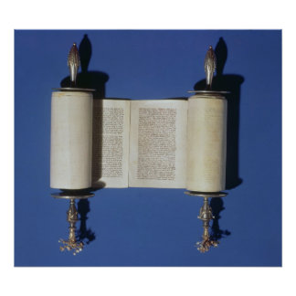 Miniature Torah Scroll, 1765 Poster