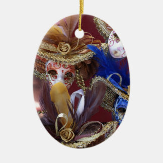 miniature Venetian masks Christmas Ornament