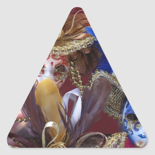 miniature Venetian masks Triangle Sticker