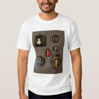 Miniatures from LtoR, TtoB: Frances Teresa Stuart, T Shirts