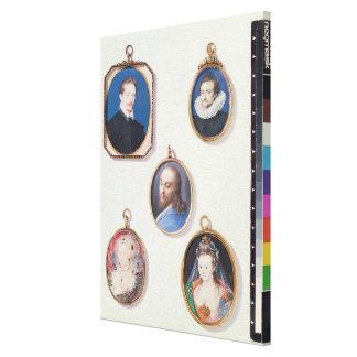 Miniatures. from LtoR, TtoB: Sir Arundel Talbot; U Canvas Print