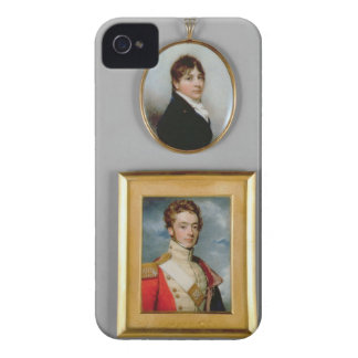 Miniatures of Young Officers of the 38th Madras Na iPhone 4 Covers