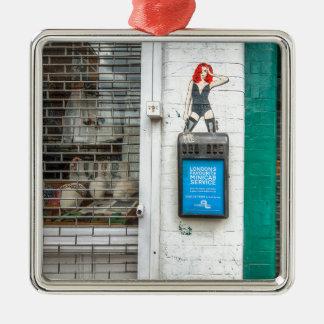 Minicab graffiti girl christmas ornament