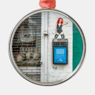 Minicab graffiti girl christmas ornament