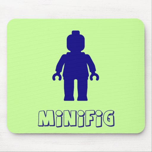 Minifig [Dark Blue] by Customize My Minifig Mouse Pads