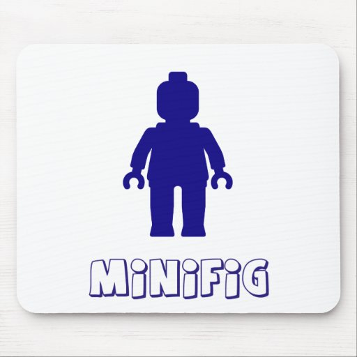 Minifig [Dark Blue] by Customize My Minifig Mousemats