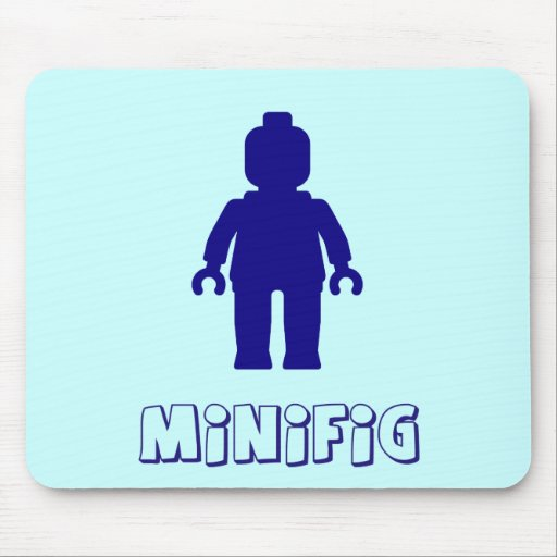 Minifig [Dark Blue] by Customize My Minifig Mousemat
