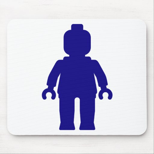 Minifig [Dark Blue] by Customize My Minifig Mousepad